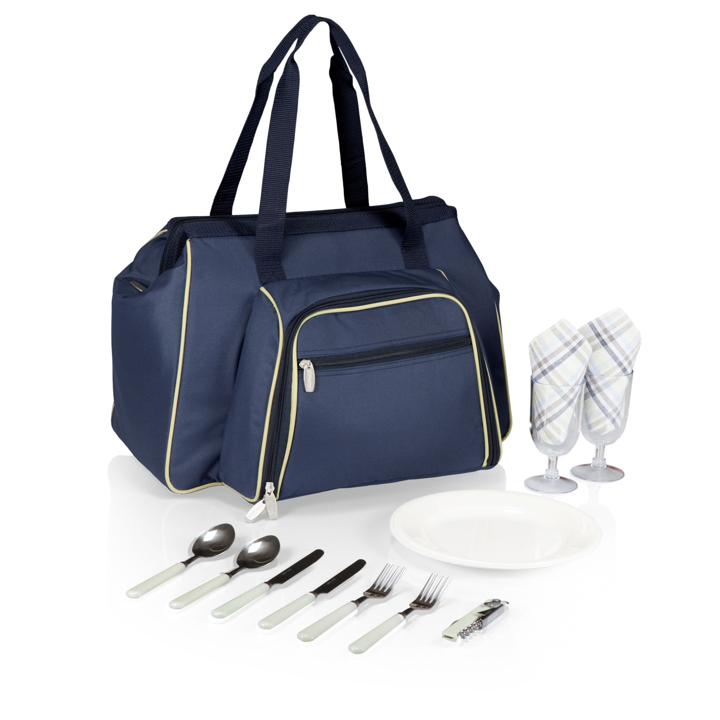 Picnic Time Toluca Insulated Cooler Tote, Navy