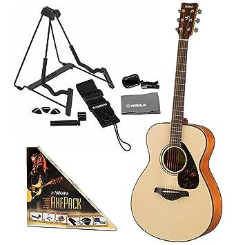 Yamaha FS800 pequeño cuerpo con guitarra (superficie de pícea con Yamaha axepack: Amazon.es: Instrumentos musicales