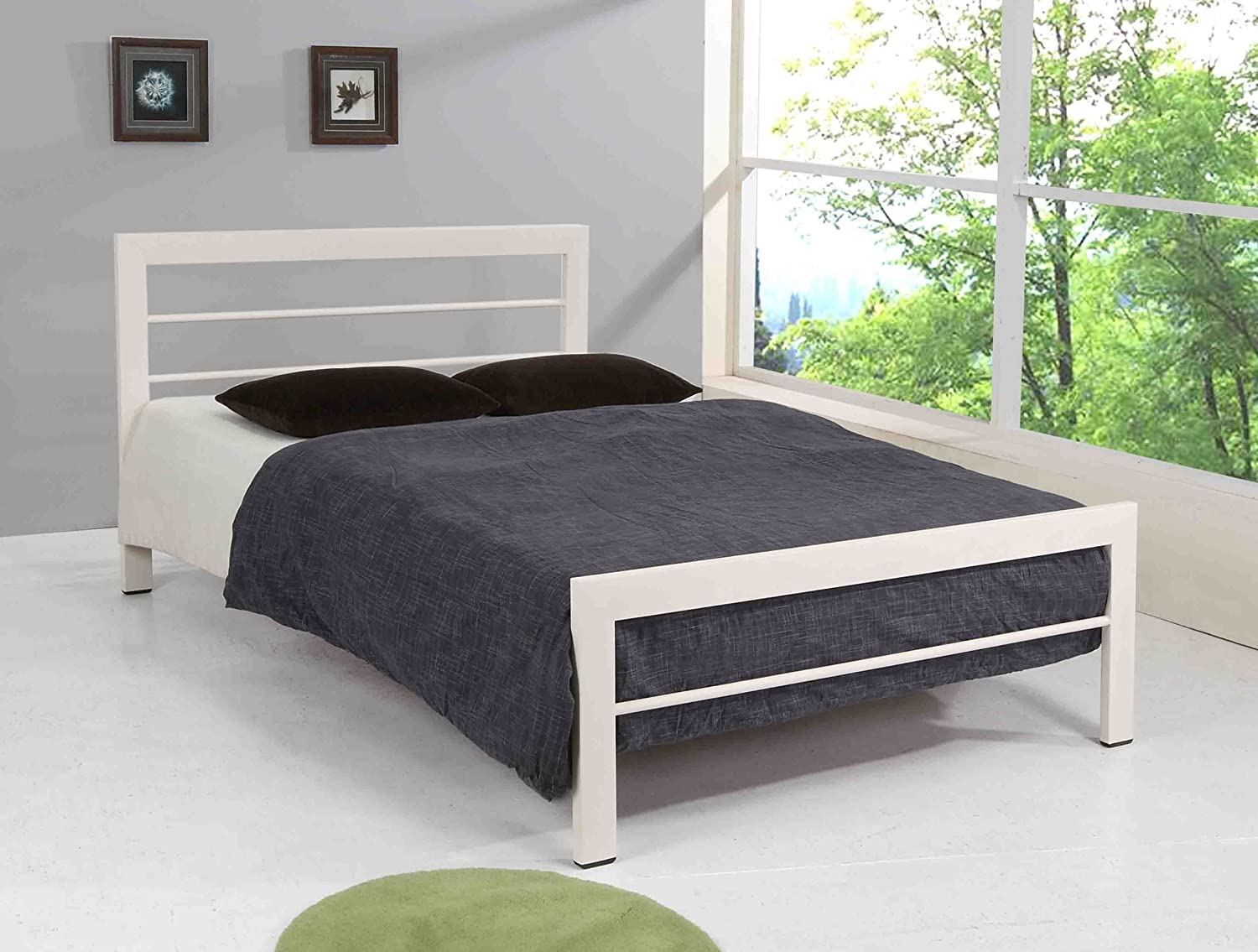 frame black and hom klik futons futon innerspring furniture white klaks hyland mattress with