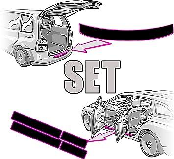 Seat Ateca Einstiegsleisten Ladekantenschutz Set Rakel Anleitung In Matt Schwarz Folie Passend Für Seat Ateca Schutzfolie Von Ccw Auto