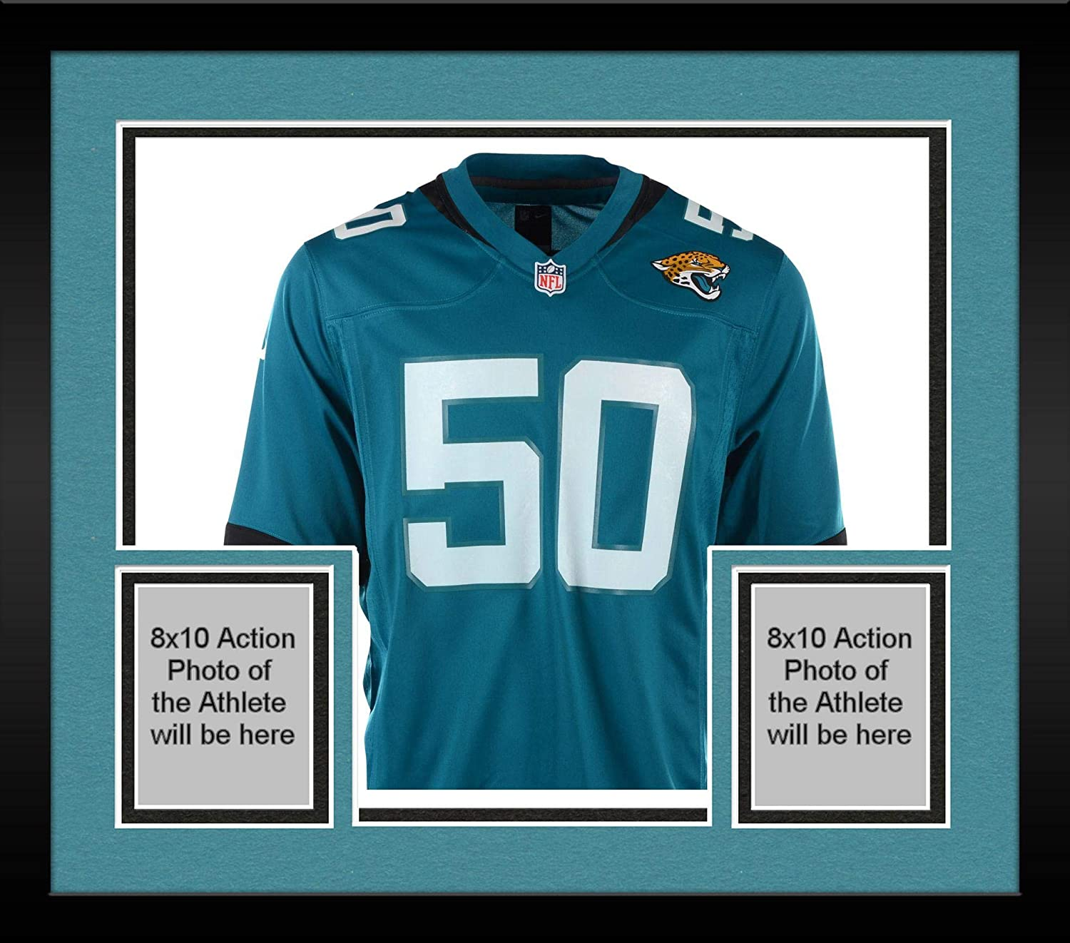16e8aa58 Framed Telvin Smith Jacksonville Jaguars Autographed #50 Teal Jersey ...