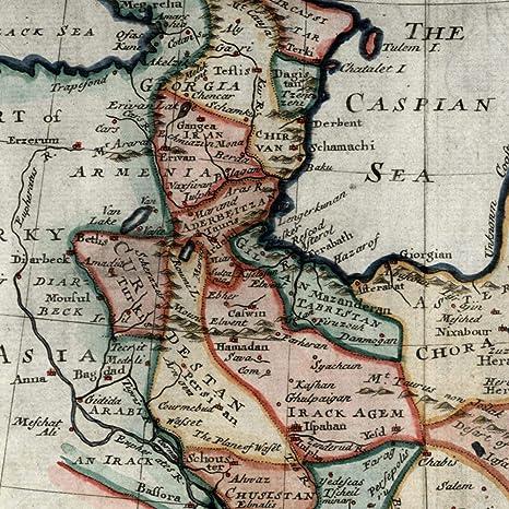 Amazon.com: Persia Chor Iran Caspian Sea Azerbaijan c.1730 Moll ...