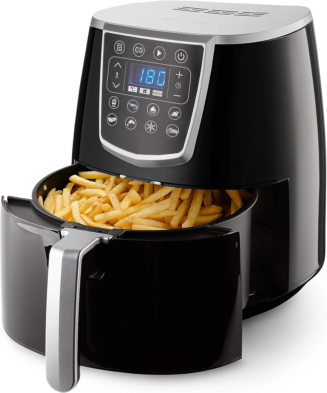 Gemlux Air Fryer AF-15 - Hornillo multifunción para sanos aperitivos y comidas (freidora de aire caliente para el hogar, portátil y apto para uso ...