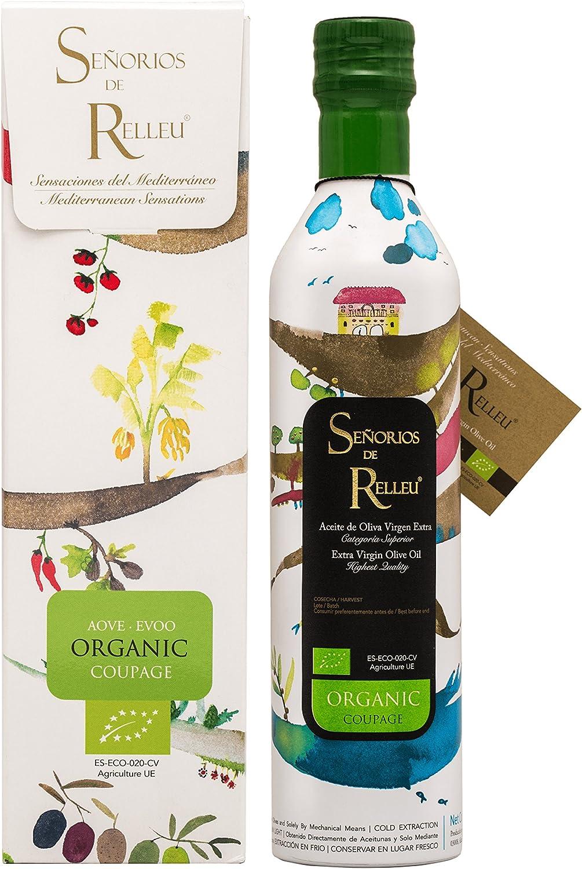Señorios De Relleu Aceite de Oliva Virgen Extra Coupage ORGANIC 500 ml con ESTUCHE de REGALO: Amazon.es: Alimentación y bebidas
