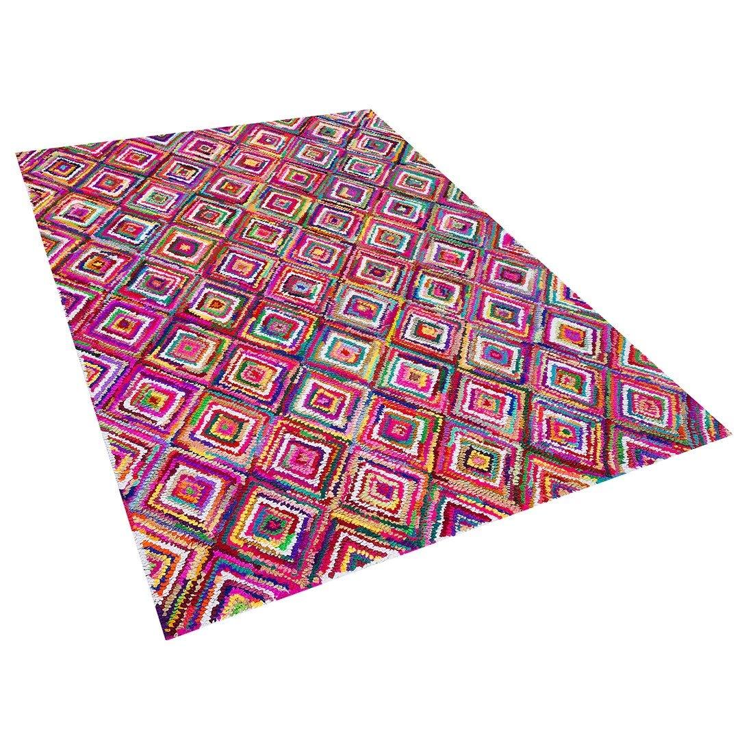 Beliani Teppich bunt 160 x 230 cm Hochflor KAISERI