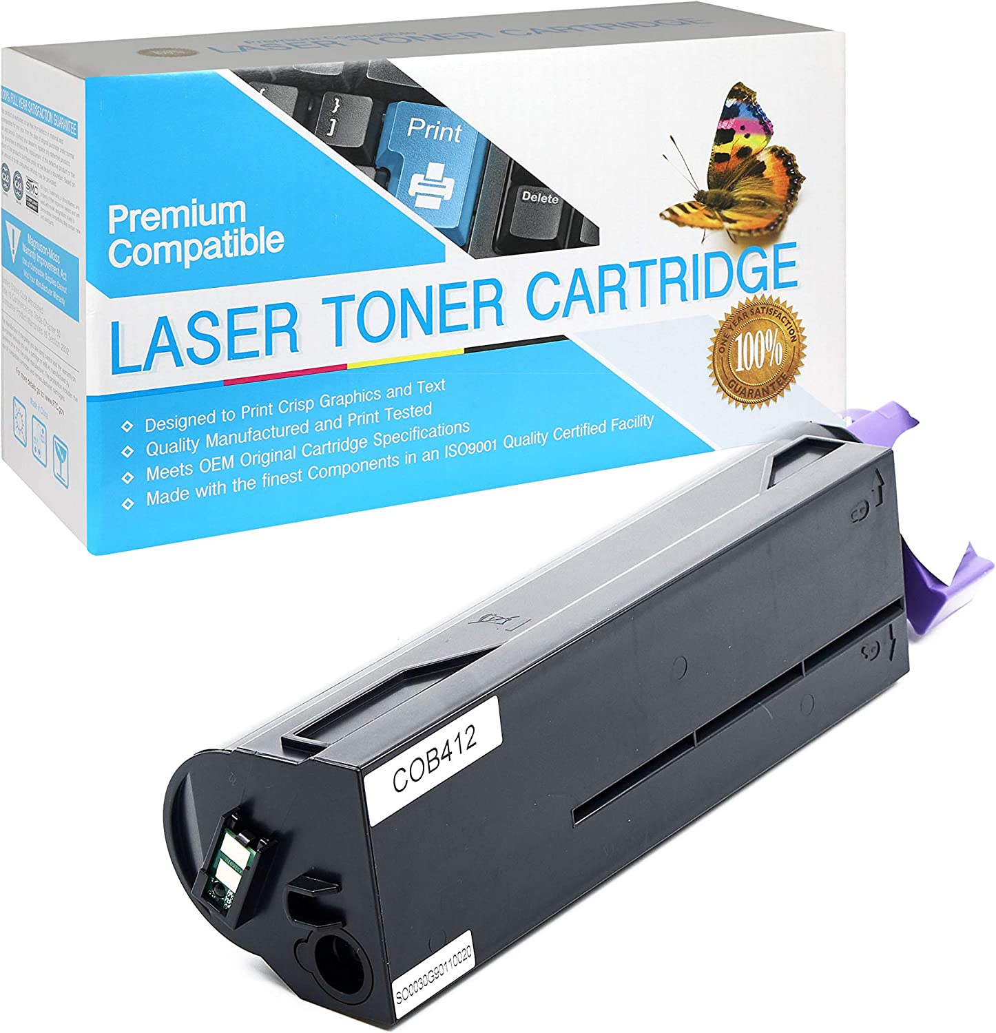Black,1 Pack 45807105 SuppliesOutlet Compatible Toner Cartridge Replacement for Okidata B412