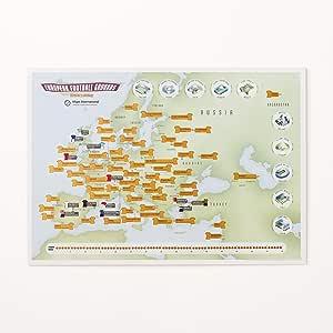 Póster para rascar con el mapa de los estadios del fútbol europeo ...