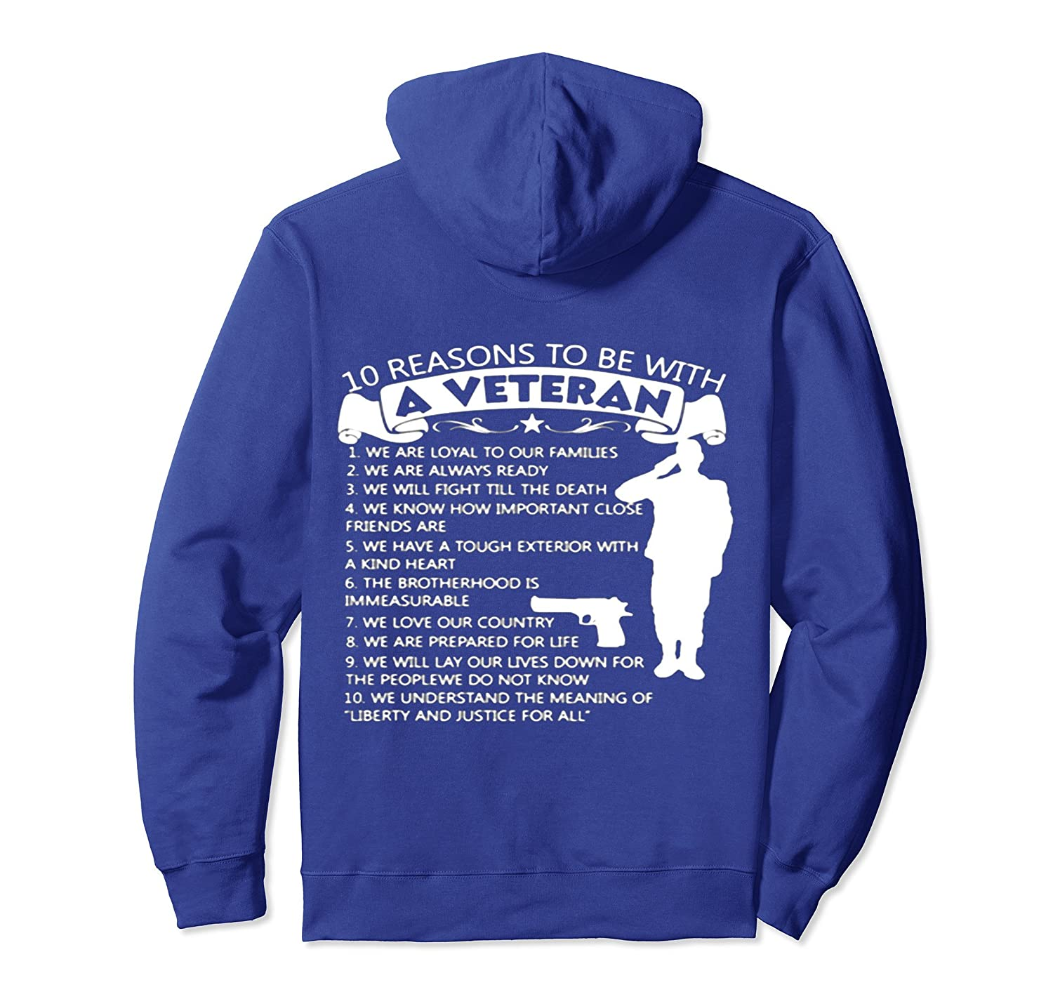 10 reasons to be with a Veteran Hoodie-anz