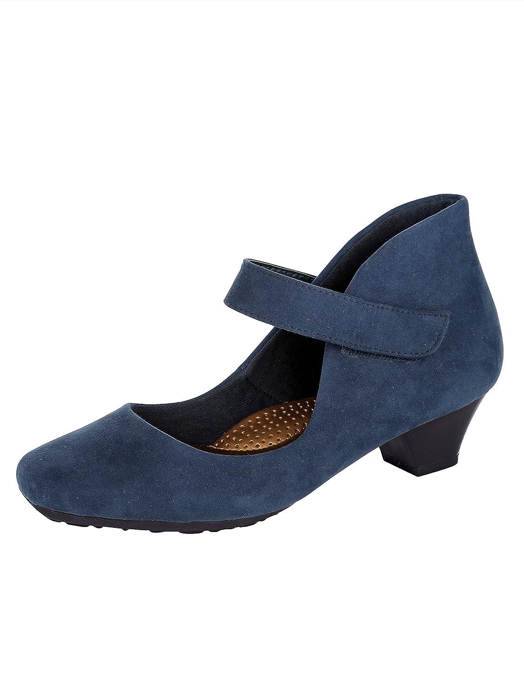 Mae&Mathilda Spangenpumps in elegantem Look, blau, blau