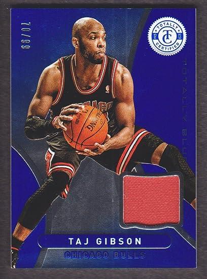 sports shoes b06d4 b6f7c 2012-13 Totally Certified Basketball Jersey Blue #102 Taj ...