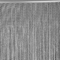 EBTOOLS - Cortina de Aluminio para Puerta o Ventana, 90 x 214,5 cm, con Cadena de Metal de Aluminio, para Control de…