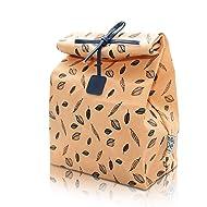 Waxed Canvas Lunch Bag, Reusable, 100% Biodegradeable, Eco friendly, Waterproof, Men, Women, Kids, Boy, Girl