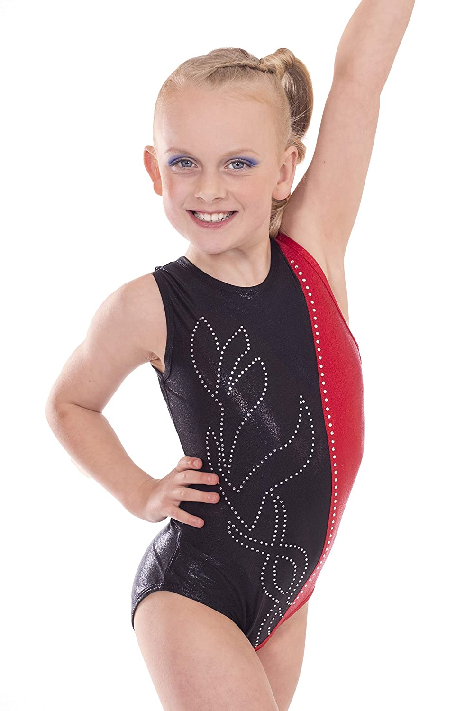 Vincenza Dancewear Girls Short Sleeved (Sleeveless) Leotard for Gymnastics