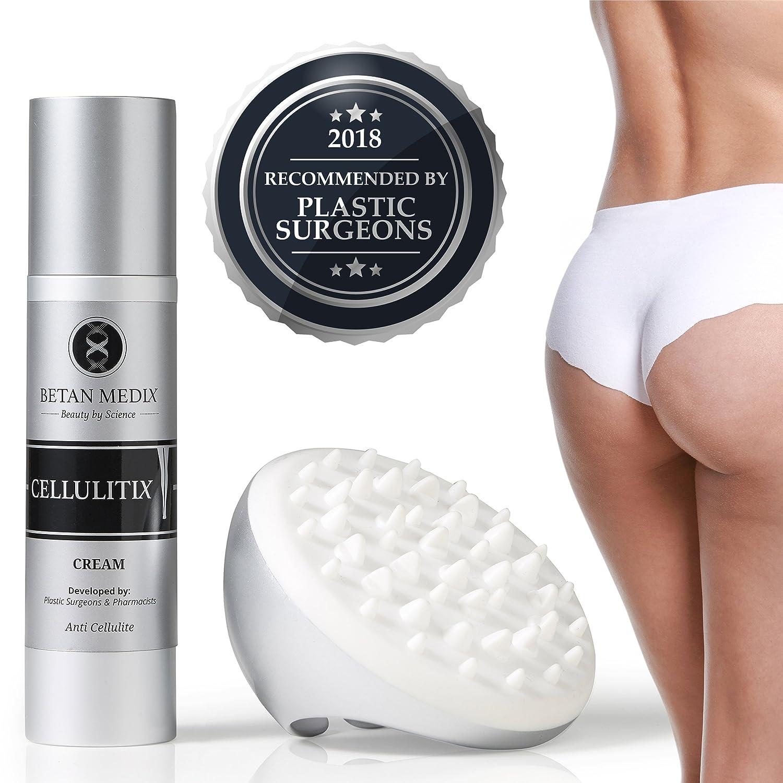 CellulitiX Anti Cellulite Creme - Klinisch getestet von Experten empfohlen - Innovative 3-1 Formel Inkl. GRATIS Massagegerät Betan MediX CELL02