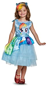 Rainbow Dash Movie Classic Costume, Blue, Small (4-6X)