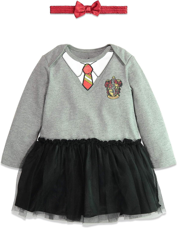 Warner Bros. Harry Potter Body Vestido de Manga Larga de Hermione para Bebé Niña 3-6 Meses