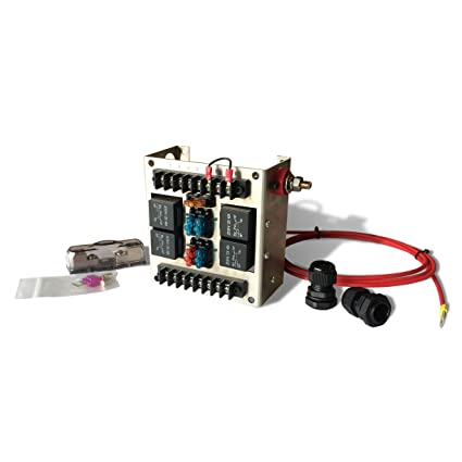 81D9IpCt0JL._SX425_ amazon com 4 relay panel block and wiring kit with 12v 40a