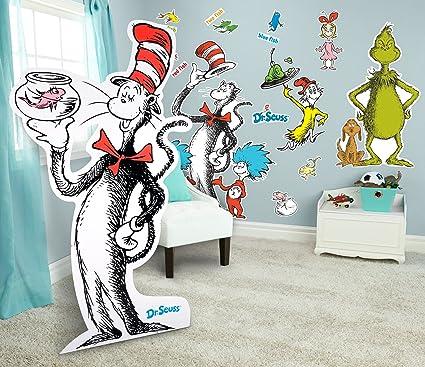 Amazon.com: BirthdayExpress Dr Seuss Room Decorations Giant Wall ...