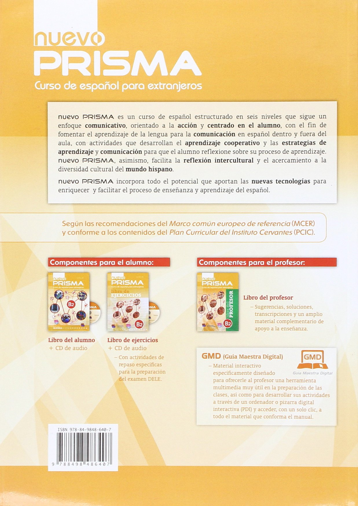 Nuevo Prisma B2: Student Book: Curso de Espanol Para ...