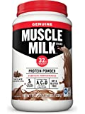 Muscle Milk Genuine Protein Powder, Chocolate, 32g Protein, 2.47 Pound (Packaging May Vary)