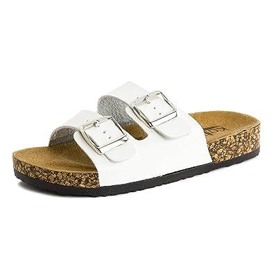 b117eca403db Kali Girls Open Toe Buckle 2 Strap Ankle Hook Sandals (Toddler Little Kid)