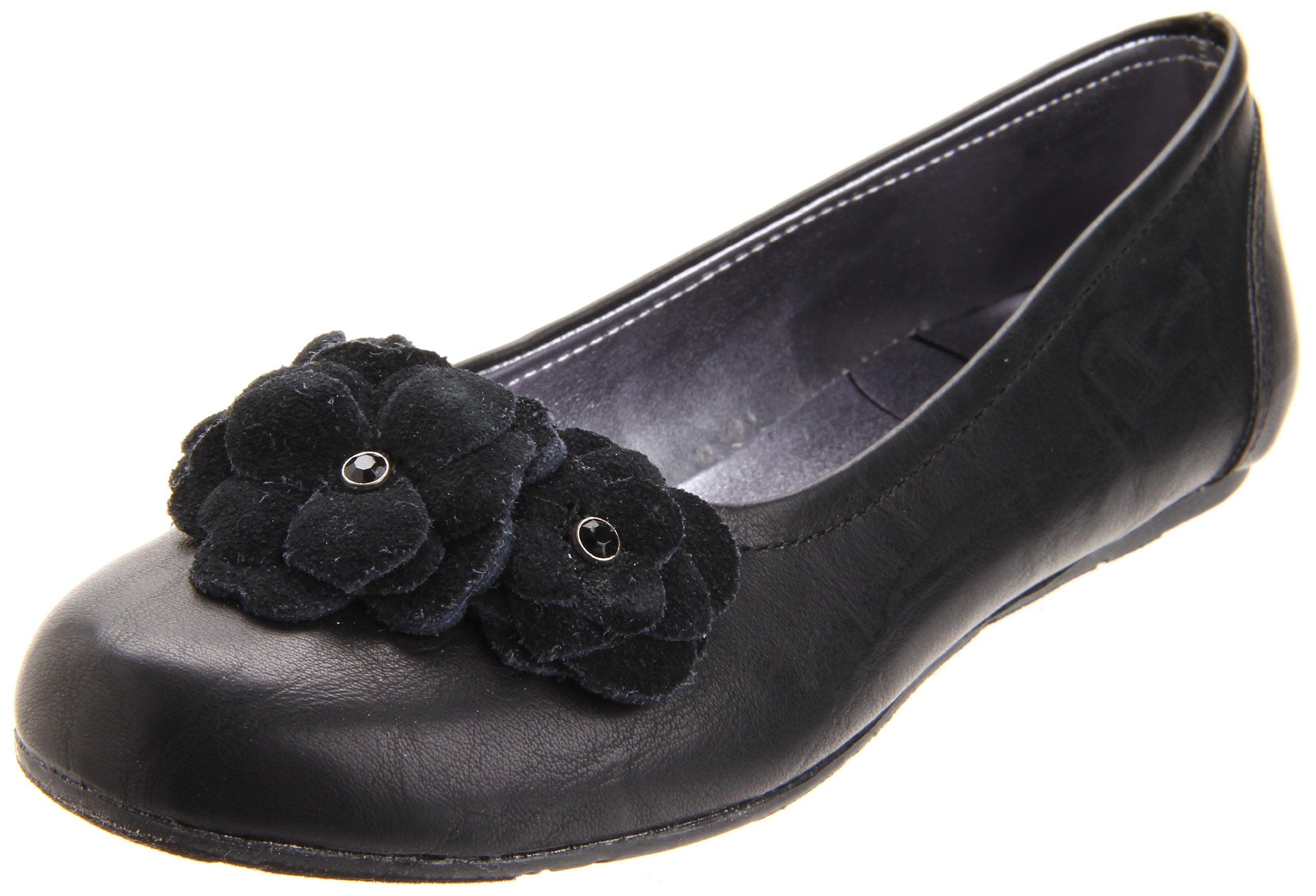 Jessica Simpson Kallie Ballet Flat (Little Kid/Big Kid),Black,2 M US Little Kid