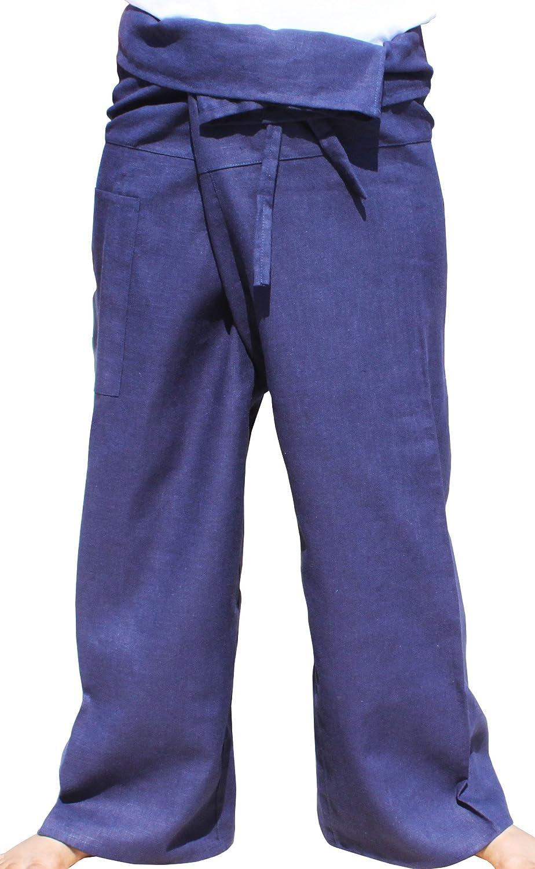 RaanPahMuang Natural Ramy Fabric Fisherman Wrap Pants Super Baggy Casual