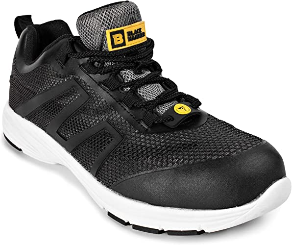 Calzado Deportivo de Seguridad S1P SRC con Puntera de Acero Ligera Calzado de Trabajo de con Suela Central de Acero 5555 Black Hammer: Amazon.es: Zapatos y complementos