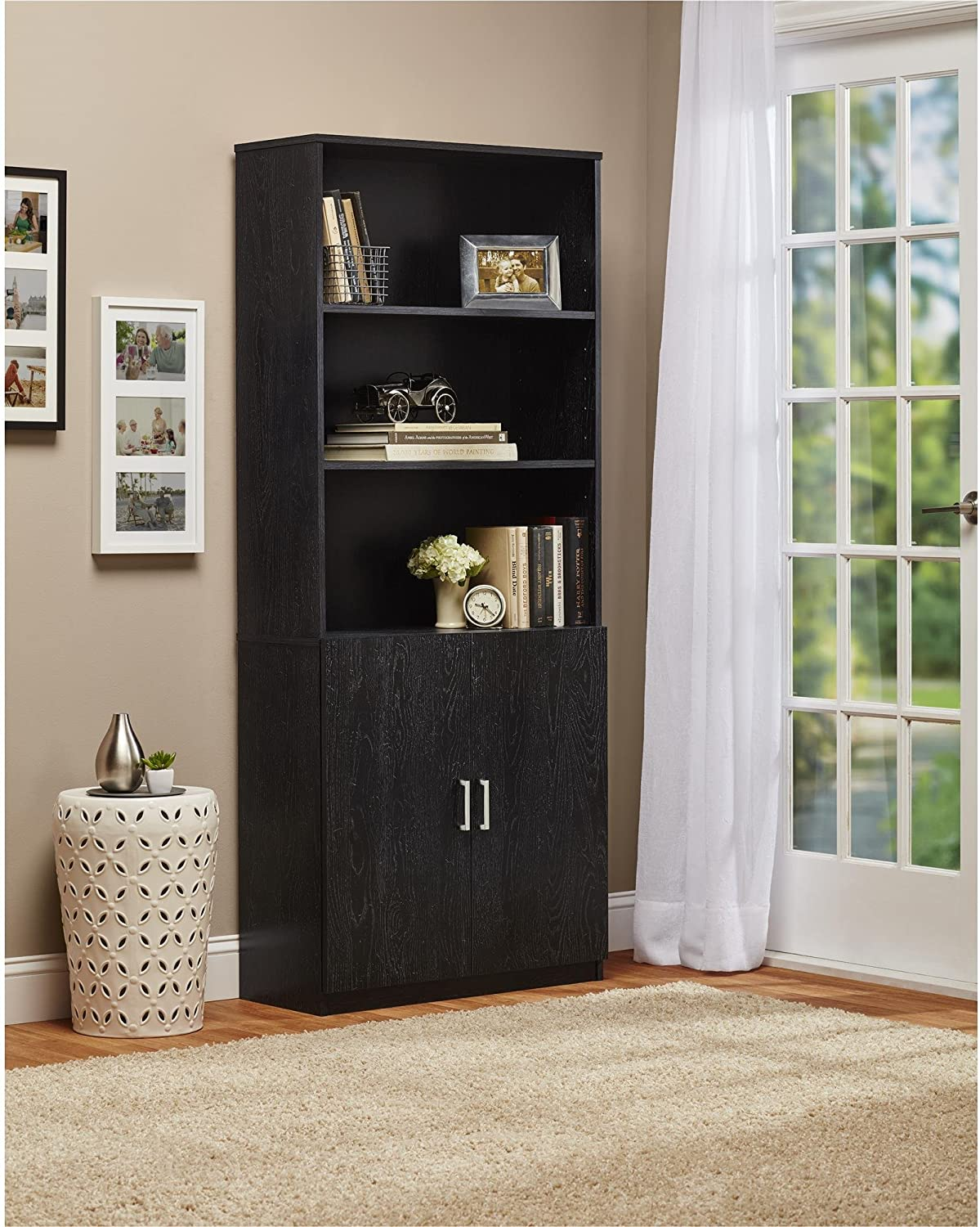 Ameriwood Home Moberly Bookcase with Doors White
