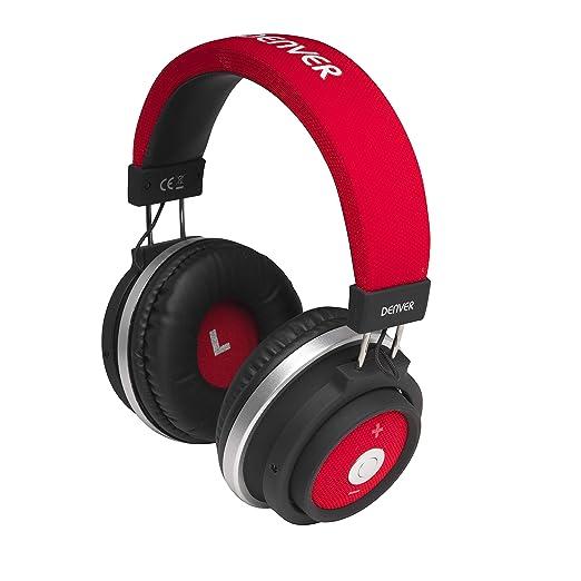 Denver BTH 250RD Auricular Bluetooth de Diadema con batería Recargable: Amazon.es: Electrónica