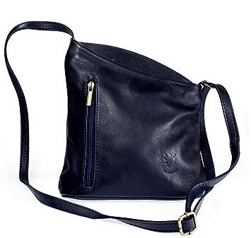 cce4735071ebd Echt Leder Umhängetasche Damentasche Handtasche Ledertasche Schultertasche  blau