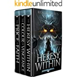 The Ties that Bind trilogy: The Heresy Within, The Colour of Vengeance, The Price of Faith (First Earth Saga)