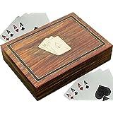 Set di supporti per carte da gioco - 2 supporto per legno organizzatore a cremagliera a mano - 15,2 cm