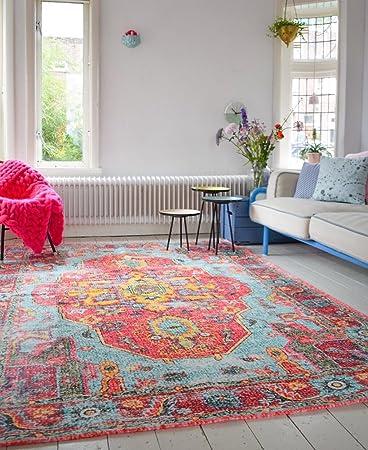 Teppich Shabby amazon de rozenkelim nl vintage look teppich im angesagten shabby