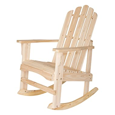 Shine Company Marina Porch Rocker Chair, Natural