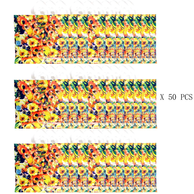 卸売 パーティーバー ヒマワリ オレンジ。カラフルなリサイクル可能Groceryショッピングバッグ、防水性、軽量PEプラスチックハンドバッグ、パーティーFavorトートバッグバッグ、素晴らしいギフトバッグ オレンジ B076FW1V8X B076FW1V8X ヒマワリ, サカエムラ:a0f5f5ba --- arianechie.dominiotemporario.com