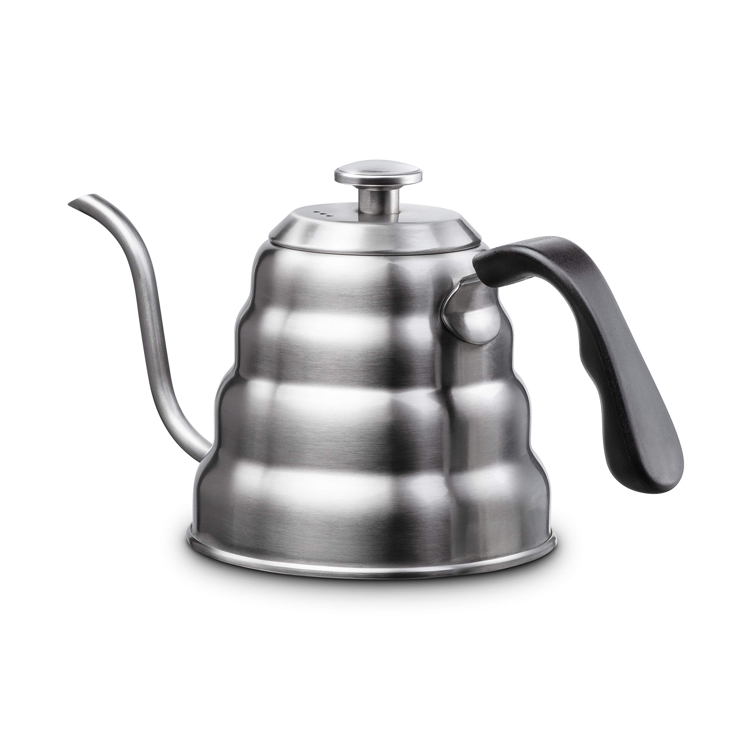 Pour Over Kettle By Unostylez - Built in Thermometer   Gooseneck Spout (1.2L   40floz) - Rust Proof Premium Grade Stainless Steel   Precise Temperature Measuring For Drip Coffee   Tea by Unostylez