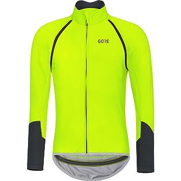 Gore Wear Men s C5 Windstopper Zip-Off Long Sleeve Cycling Jersey - Neon  Yellow Black e4c14cdad