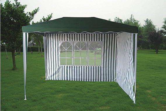 KitGarden - Carpa Desmontable 2x3 Jardin con 2 laterales, 200x300x240 cm, Verde/Blanco, Plus 2x3: Amazon.es: Jardín