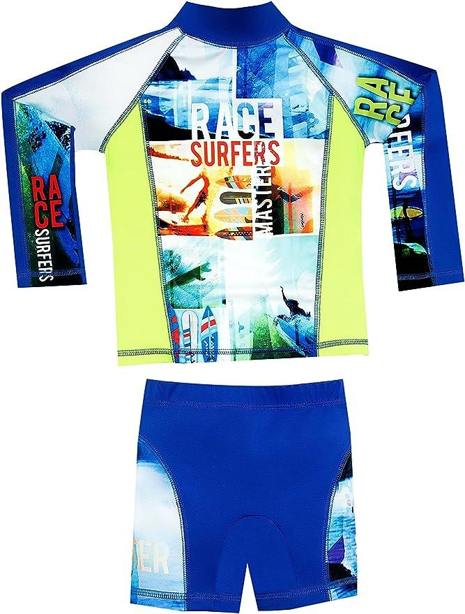 Color Fingers Long Sleeve Swim Set