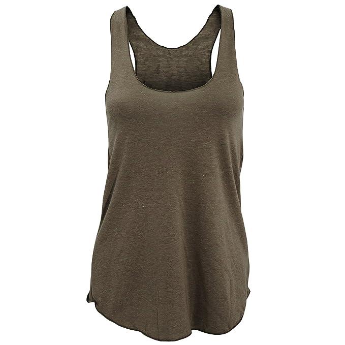 American Apparel- Camiseta de Tirantes Lisa Tipo nadadora de Varios Tejidos para Mujer: Amazon.es: Ropa y accesorios
