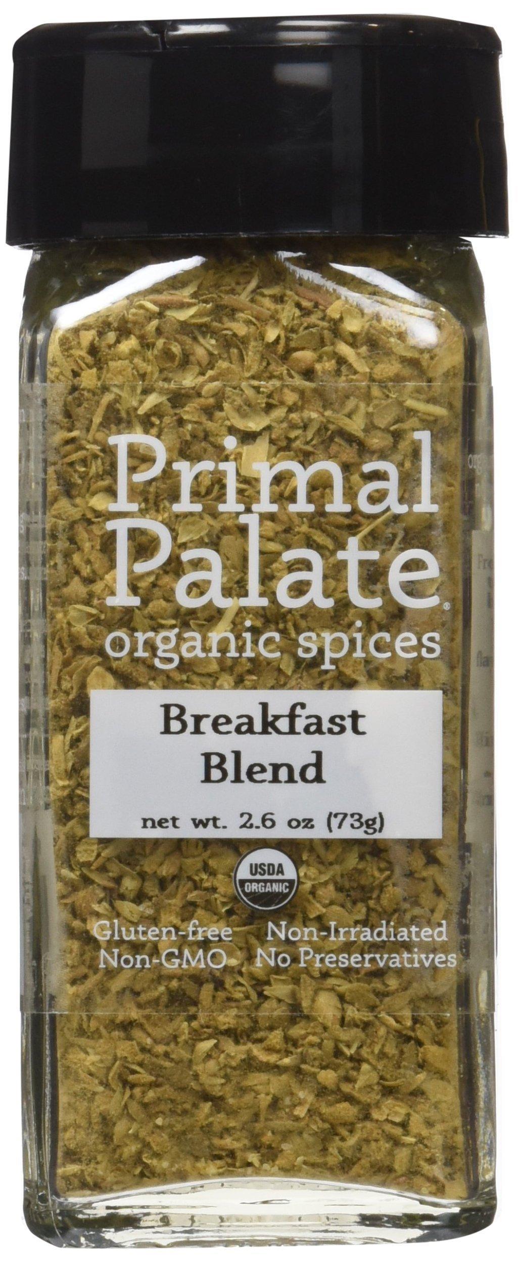 Primal Palate Organic Spices Breakfast Blend, Certified Organic, 2.6 oz Bottle