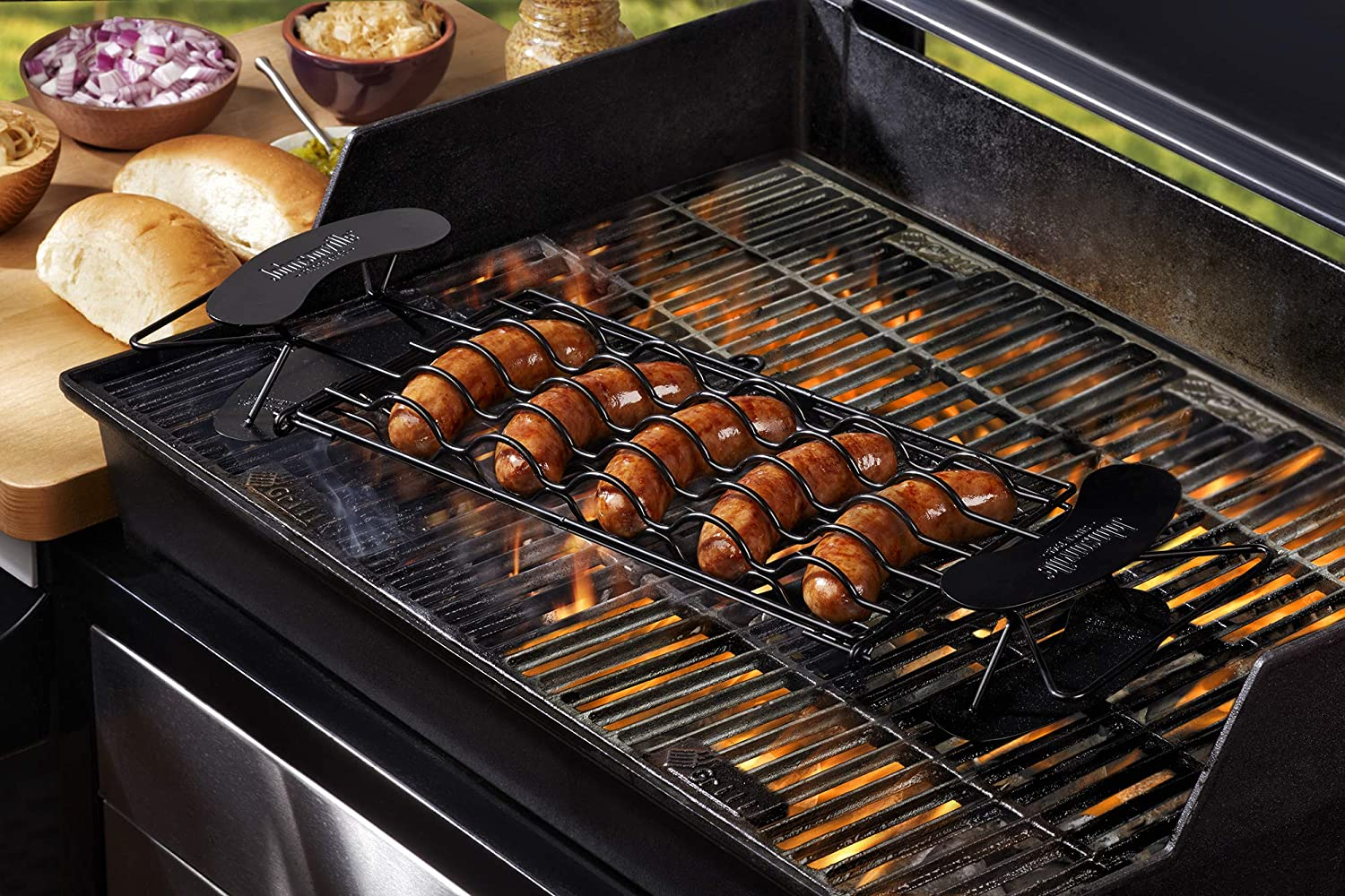 Johnsonville Brat Griller - BBQ Basket for 5 Sausage Links