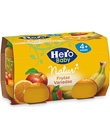 Hero Baby - Natur Frutas Variadas 4 Meses. Sin gluten, 2 x 120gr