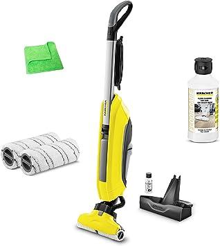 Kärcher limpiador de suelos FC 5 1.055 – 500,0 Incluye limpiador y suelo Cuidado Madera sellado. 0,5 litros 6.295 – 941.0 & Gris Escobilla de recambio 2.055 – 007.0 & profesional paño de microfibra: Amazon.es: Bricolaje y herramientas