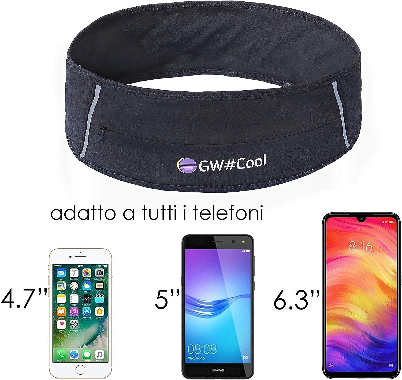 """Cintura da Corsa Marsupio Sportivo per iPhone smartphone fino a 6/""""  6.3 pollici"""