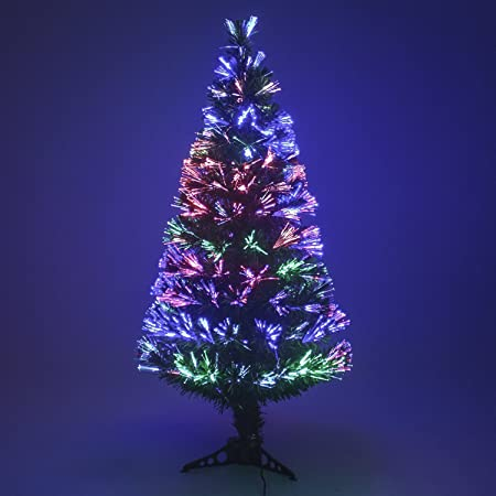 "Multi Colour Fibre Optic Christmas Xmas Tree Colour changing Classic Tree  32"", 4Ft , - Multi Colour Fibre Optic Christmas Xmas Tree Colour Changing Classic"
