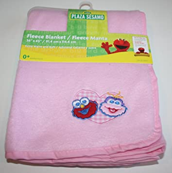Image Unavailable. Image not available for. Color  Sesame Street Pink Fleece  Baby Blanket ... 9bf46c353