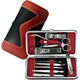 Manicure Pedicure Set Nail Clippers - 10 Piece Stainless Steel Manicure Kit - tools for nail, Cutter Kits -Perfect gift for women, men Includes Cuticle Remover with Portable Travel Case