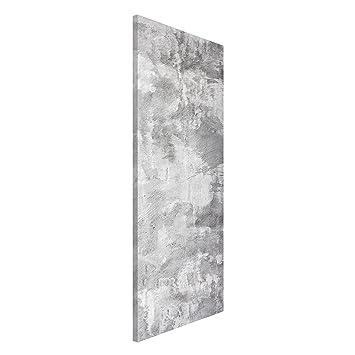Metall Pinnwand gro/ß BANJADO Design Magnettafel silber Wandtafel magnetisch 37cm x 78cm Memoboard mit Wunschmotiv